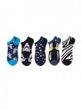Summer Pure Cotton Casual Ship Socks Female