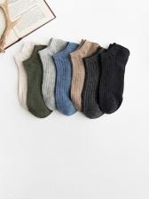Wholesale Pure Cotton Men Summer Solid Socks
