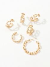 Chic Geometry Personality Stud Earrings Set