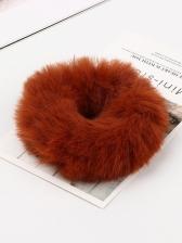 Imitation Rabbit Hair Cute Solid Plush Hair Bands