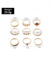 Individual Vogue Geometry Ring Sets