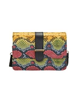 Versatile Snake Printed Adjustable Shoulder Bag