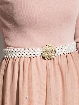 Trendy Faux-Pearl Versatile Waist Belt
