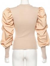 Creative Draped Sleeve Womens Blouses