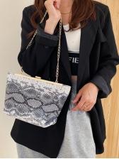 Fashion Latest Vintage Snake Print Shoulder Bag