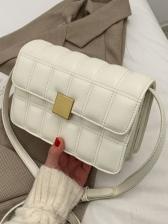 Rhombus Lattice Solid Fashion Casual Shoulder Bag