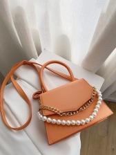 Faux-Pearl Chain Stylish Versatile Shoulder Bag