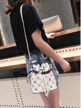 Versatile Rhinestone Design Vogue Bucket Bag
