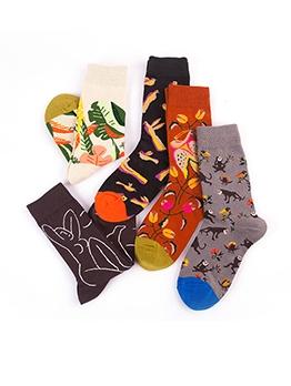 Trendy Autumn Leisure Lovers Mid-Calf Length Sock