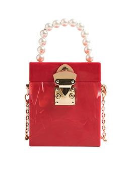 Fashion Chain Faux Pearl Ladies Bag