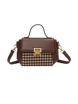 Fashion Houndstooth Patchwork Shoulder Bags