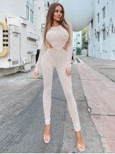 Cut Out Long Sleeve Jumpsuits For Women