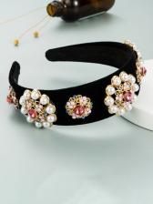 Faux-Pearl Flower Shape Create Hair Hoop