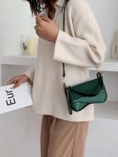 Korea Solid Irregular Cross Shoulder Bag