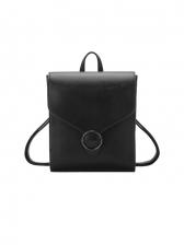 New Pu Casual Solid School Backpacks