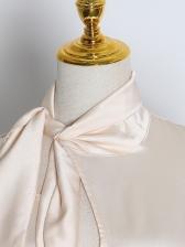 Tie Neck Ruffled Hem Boutique Long Sleeve Dress