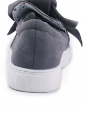 Casual Bow Tied Solid Slip On Shoes