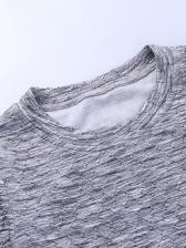 Simple O Neck Long Sleeve Bodycon Dress