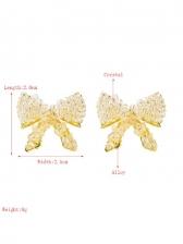 Honey Girl Beads Simple Bowknot Earrings
