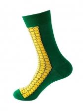 Leisure Cartoon Jacquard Weave Cotton Socks
