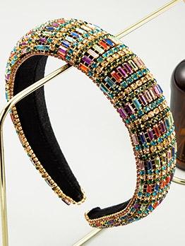 Retro Style Colourful Rhinestone Fashion Hair Hoop