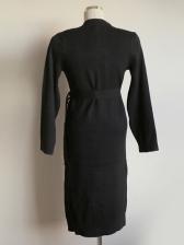 Sweet Single-Breasted Belted Long Sleeve Midi Dress