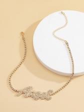 Fashion Letter Rhinestone Create Necklace