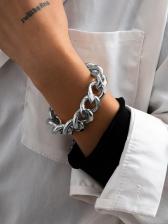 Vintage Punk Metal Simple Thick Bracelet