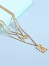 Retro Style Personality Cross Pendant Necklace