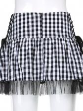 New Plaid Print Bandage Skirt