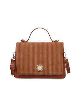 Vintage Faux Pearl Corduroy Handbags