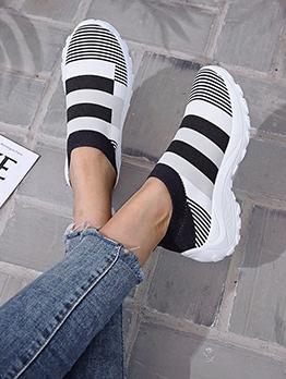 Euro Color Block Women Slip On Sneakers
