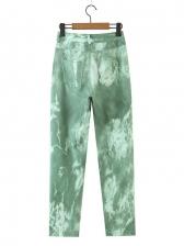Easy Matching High Waist Printed Trouser
