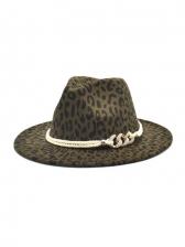 Wholesale Leopard Jazz Fedora Hats For Unisex