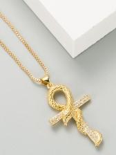 Street Hip Hop Snake Shape Pendant Necklace