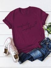 Street Letter Short Sleeve T Shirt