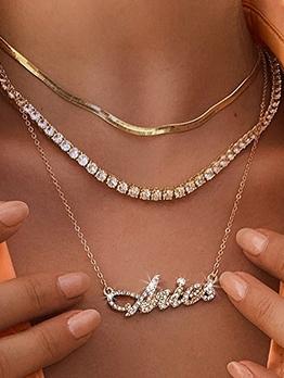 Trendy Fashion Rhinestone Twelve Zodiac Necklace
