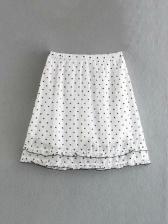Heart Print Stringy Selvedge Two Piece Skirt Set