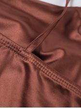 Tie Shoulder Contrast Color Short Sleeveless Dress