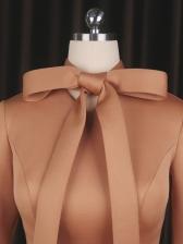 OL Style Bow Neck Dresses For Women