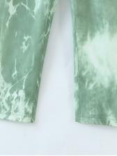 Casual Tie Dye Women High Waisted Pants