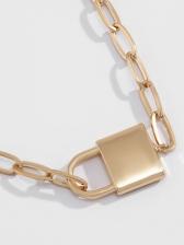 Simple Lock Shape Versatile Necklace