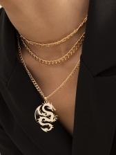 Street Chic Dragon Shape Pendant Necklaces