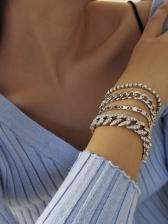 Vintage Rhinestone Bracelet Sets For Women
