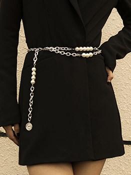 Fashion Faux-Pearl Waist Chain Accessories