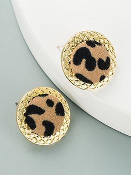 Vintage Leopard Versatile Women Stud Earrings