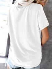 Printed Short Sleeve Womens Tee Shirts