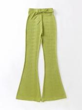 Skinny Solid Women Flare Pants