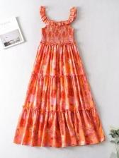 Euro Colorful Printed Sleeveless Maxi Dress