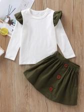 Cute Printed Long Sleeve Girls Baby Sets